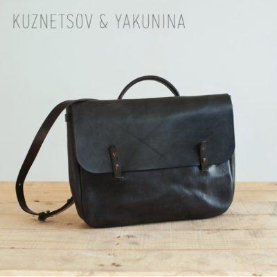Сумка-портфель черного цвета