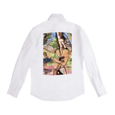 Рубашка белая унисекс Гоген и Микеланджело