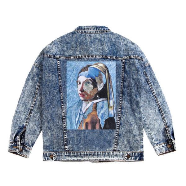 Куртка джинсовая с коллажем ВанГог