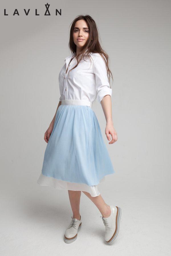 Двойная юбка со сборкой