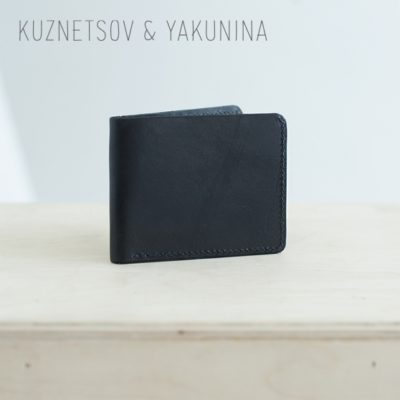 Складной кошелек черного цвета