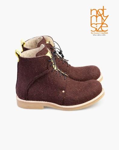 Ботинки MALJAR WOOL BROWN