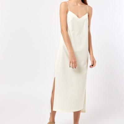 Платье комбинация белого цвета