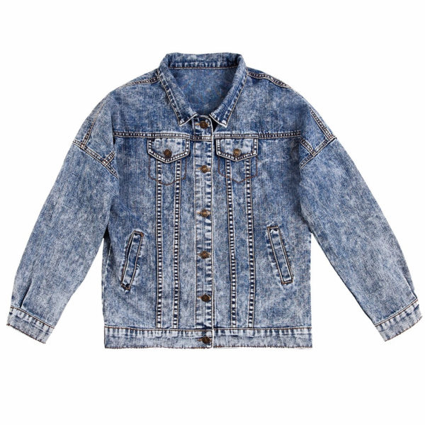 Куртка джинсовая с коллажем Моцарт