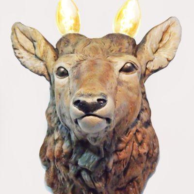 Светильник настенный - Голова оленя