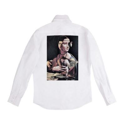 Рубашка белая унисекс Караваджо и Да Винчи