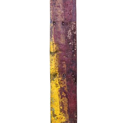 Фрагмент корабельного борта 259x25 см., тик
