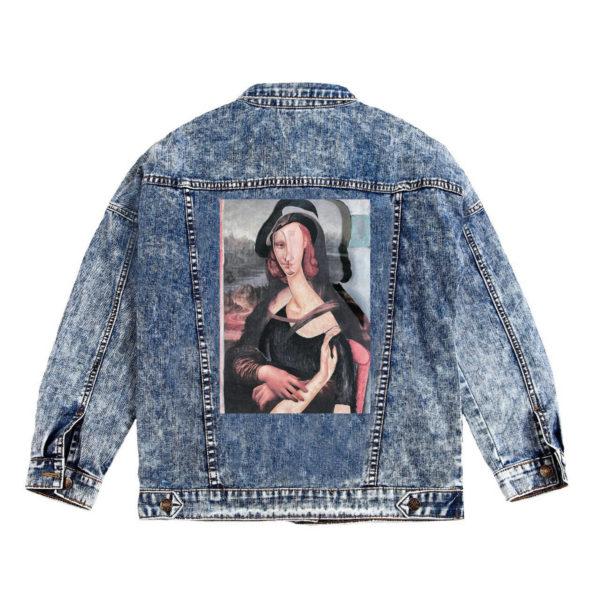 Куртка джинсовая с коллажем Модильяни