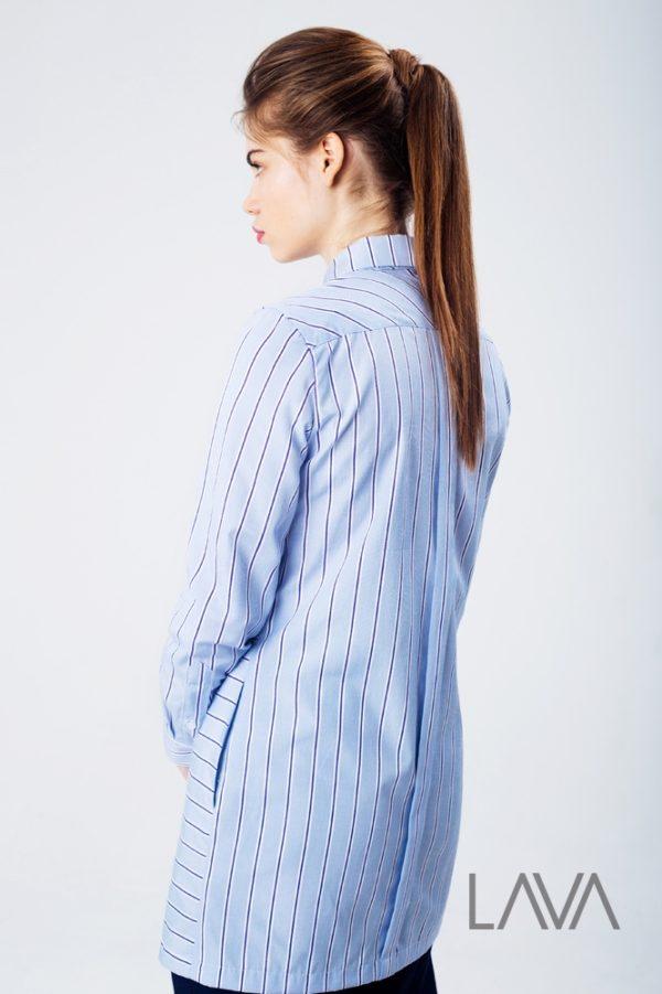 Рубашка полоска brown