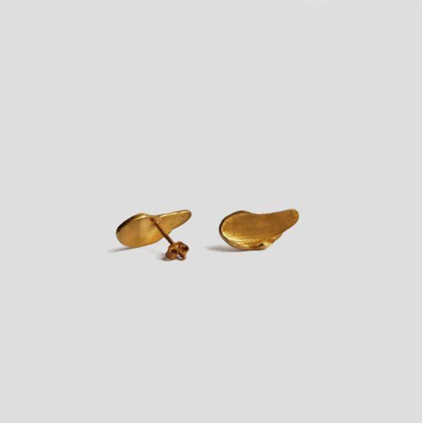 Пусеты Brush (серебро 925-ой пробы, золото)