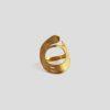 Круглое кольцо Brush (серебро 925-ой пробы, покрытие золотом)