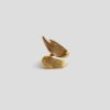 Незамкнутое кольцо Brush (серебро 925-ой пробы, покрытие золотом)