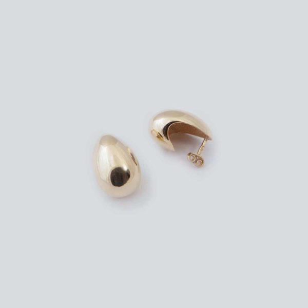 Серьги объемные Basic (серебро 925-й пробы, покрытие золотом)