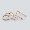 Большие асимметричные серьги Amalgama (серебро 925-й пробы, покрытие золотом)