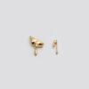 Асимметричные серьги (серебро 925-й пробы, покрыты золотом)