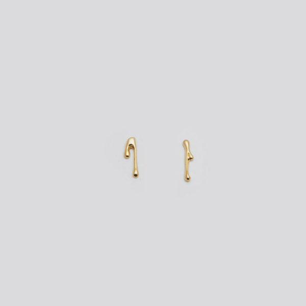 Серьги гвоздики (серебро 925-й пробы, покрыты золотом)