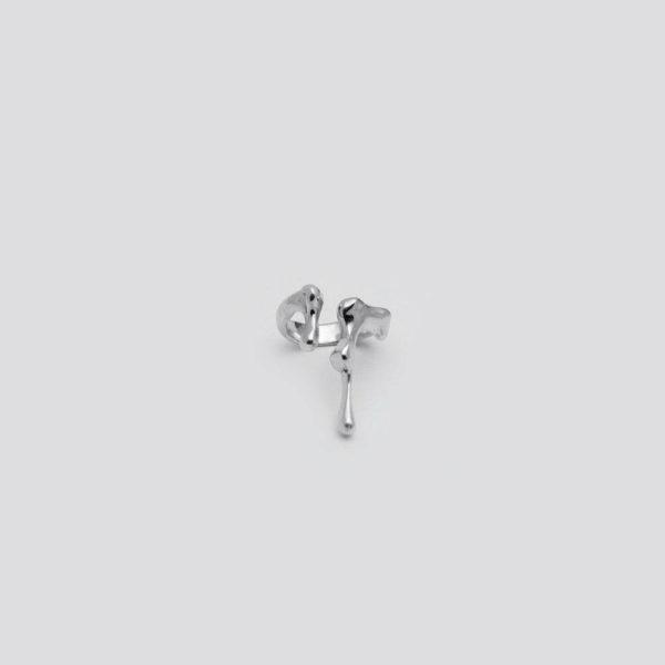 Незамкнутое кольцо (серебро 925-й пробы)