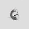 Круглое кольцо Brush (серебро 925-ой пробы, покрытие белым родием)