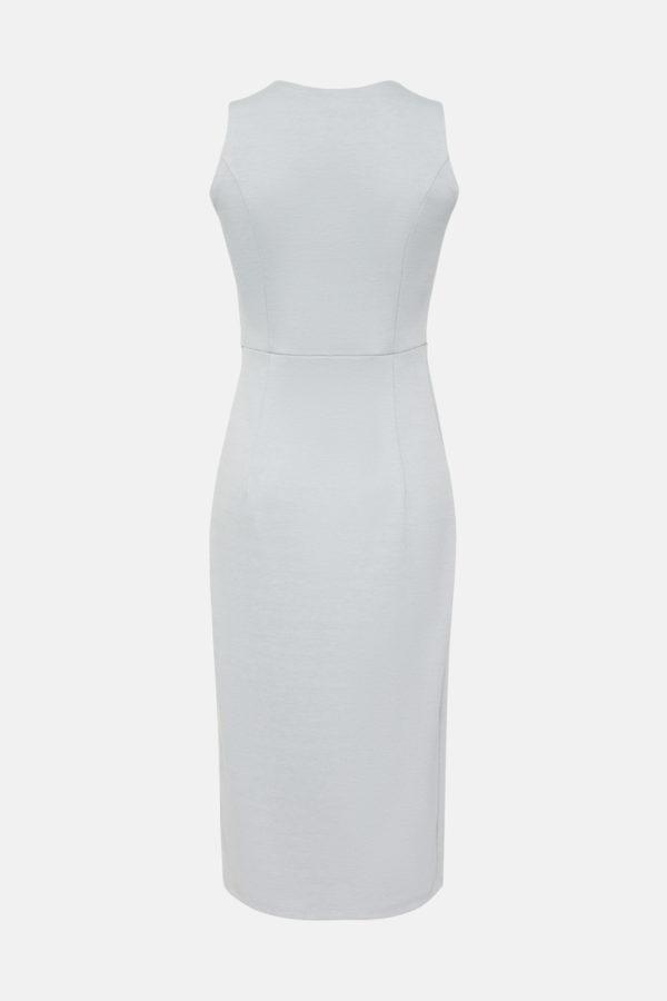 Трикотажное платье светло-серое