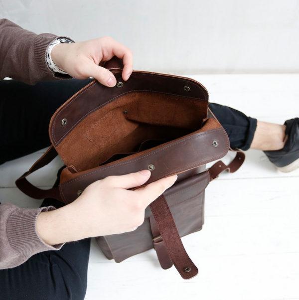 Рюкзак BananaPack - Шоколадный крейзи-хорс