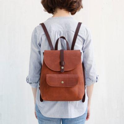 Рюкзак Backpack mini - Коньячный воск