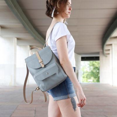 Рюкзак Backpack mini - Светло-серый и беж