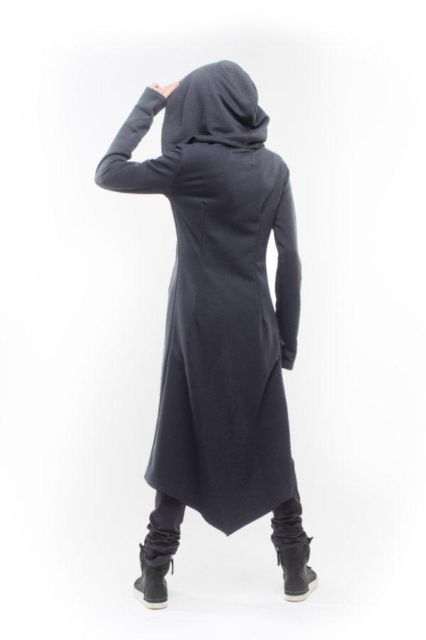 Удлиненная косуха серого цвета