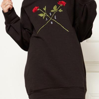 Худи с вышивкой розы
