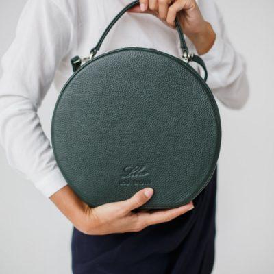 """Круглая сумка """"CHARLIE GRAY"""" авокадо"""