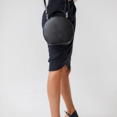 "Круглая сумочка ""MISS COCO"" чёрный жемчуг"