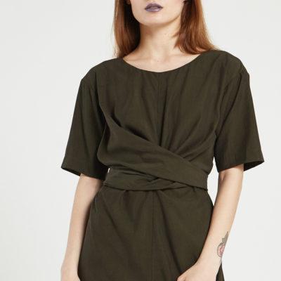 Платье с драпировкой-узлом