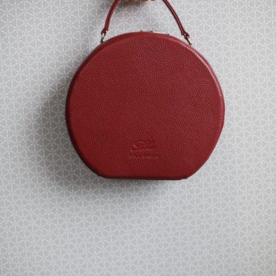 """Круглая сумка """"CHARLIE GRAY"""" вишня"""