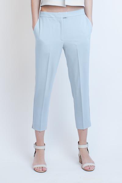 Укороченные брюки голубые