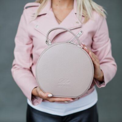 "Круглая сумочка ""MISS COCO"" пыльно-розовая"