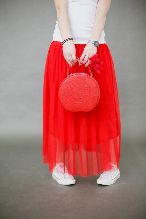 """Круглая сумочка """"MISS COCO"""" рубин"""