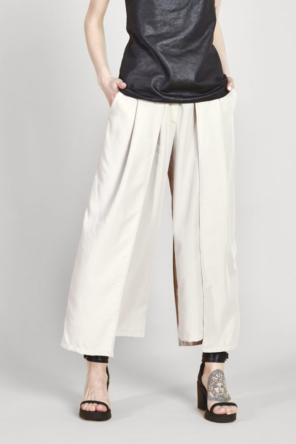 Двухслойные брюки светлые