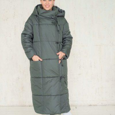 Длинный женский пуховик - одеяло 2