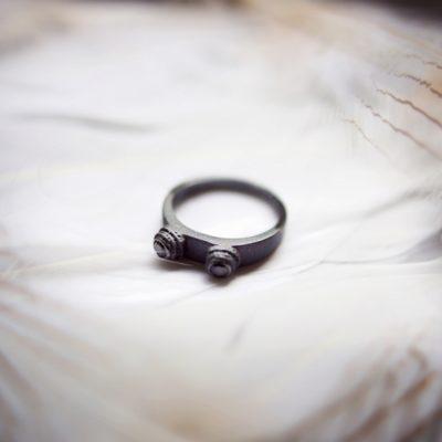 """Малое кольцо """"Двурог"""""""