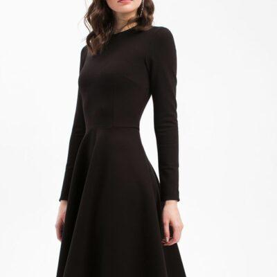 Дизайнерское платье базовое черное