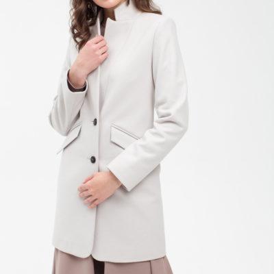 Пальто-пиджак светло-серое