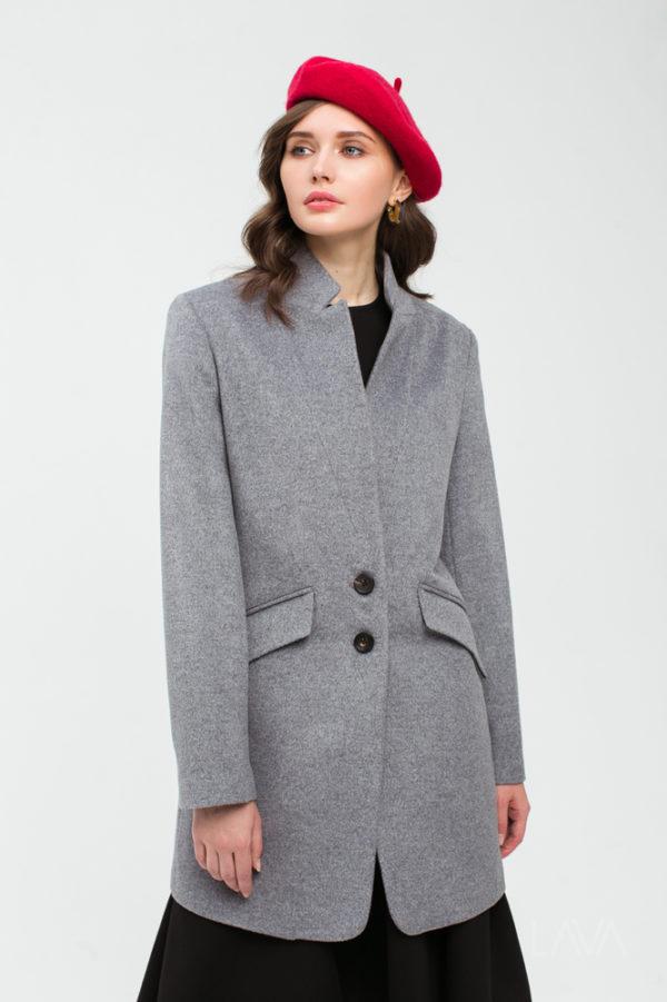 Пальто-пиджак серое
