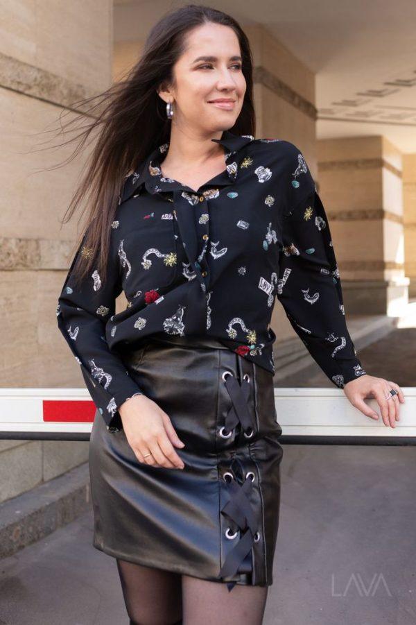Дизайнерская рубашка с принтом