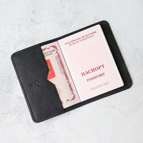 Обложка для паспортов Passport Cover - Чёрный