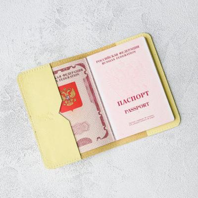 Обложка для паспортов Passport Cover - Лимон