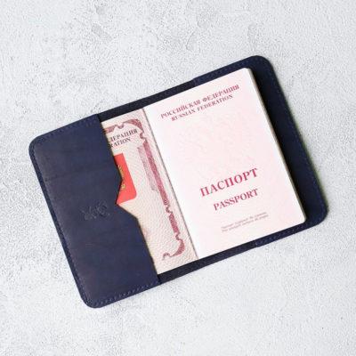 Обложка для паспортов Passport Cover - Синий воск