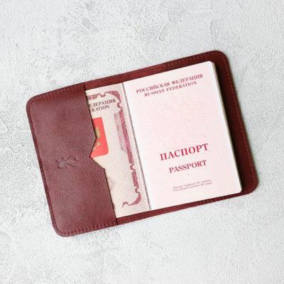 Обложка для паспортов Passport Cover - Бордо