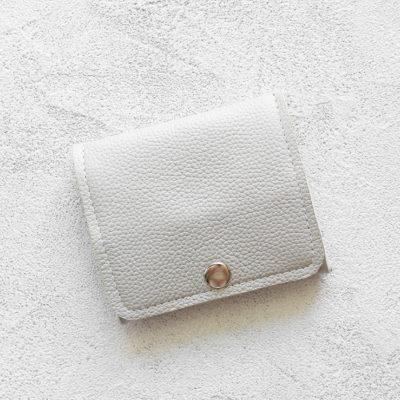 Портмоне Mini Wallet - Светло-серое зерно
