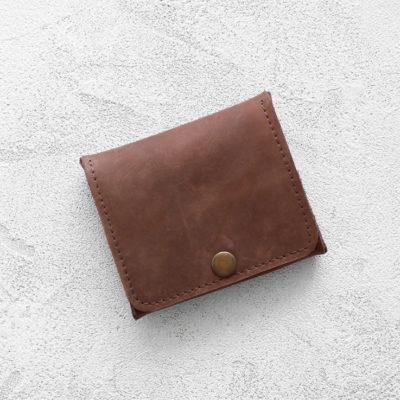 Портмоне Mini Wallet - Шоколадный крейзи хорс