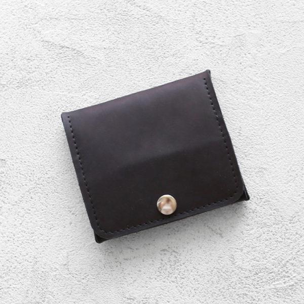 Портмоне Mini Wallet - Угольный крейзи хорс