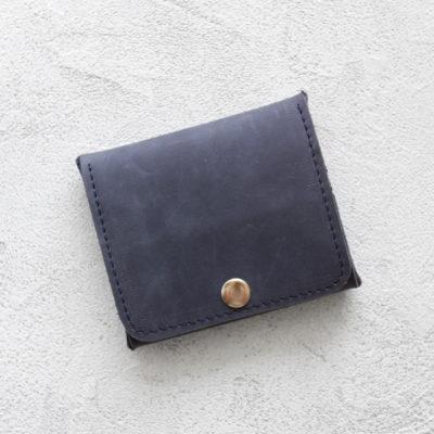 Портмоне Mini Wallet - Синий крейзи хорс